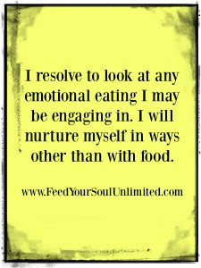 I resolve to look at my emotional eating